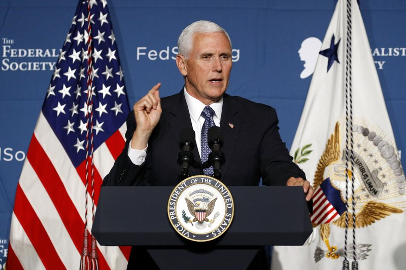 Pence slams district court rulings against Trump policies