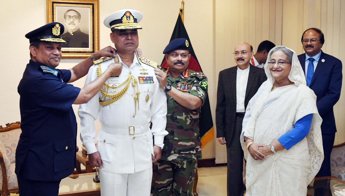 New Navy chief adorned with range badge