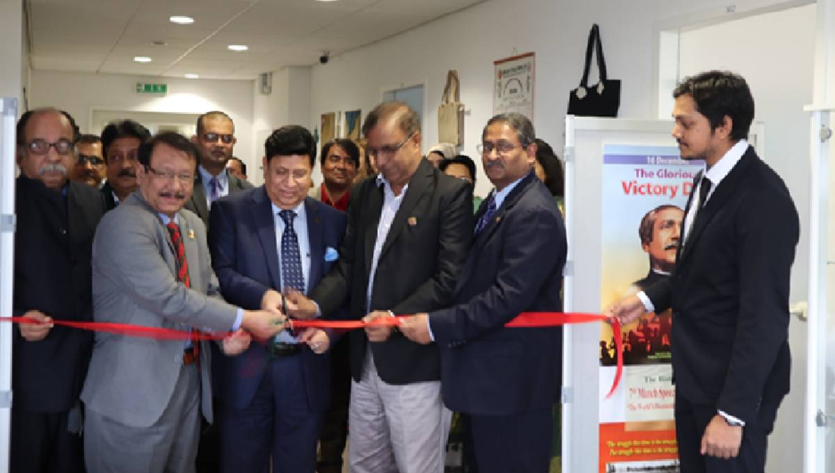 FM opens 'Bangabandhu Corner' at Bangladesh Embassy in Berlin