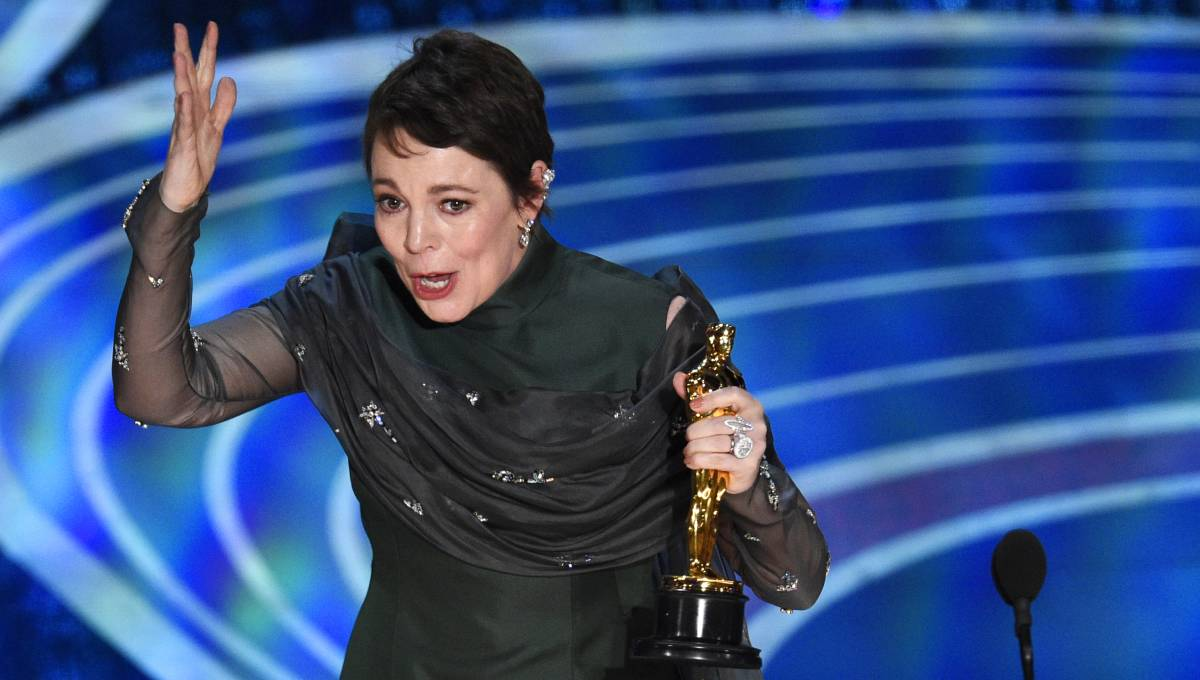 Olivia Colman wins surprise best-actress Oscar