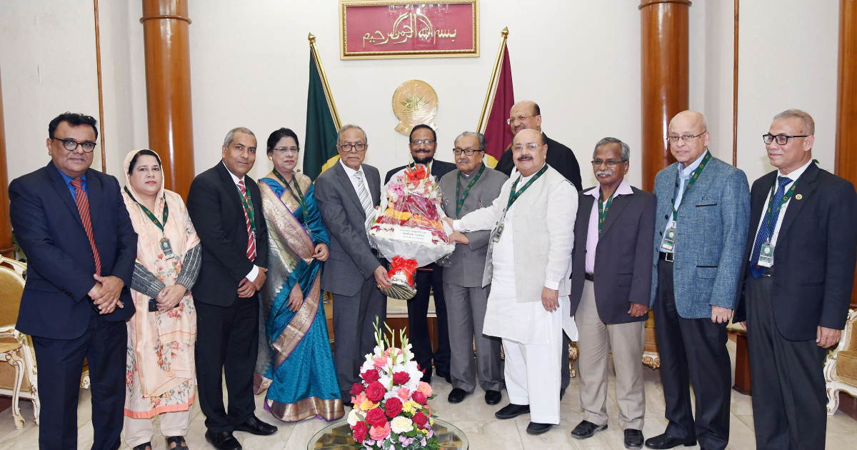 President Abdul Hamid ,  Bangabhaban ,  Press Council ,  newly formed Press Council ,  Chairman of the Press Council Justice Mamtaz Uddin Ahmed
