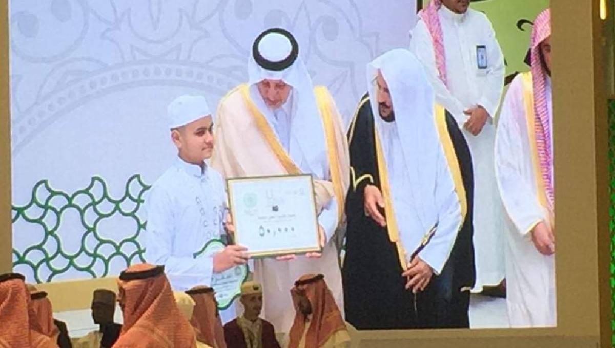 Bangladeshi boy wins int'l Quran recitation award