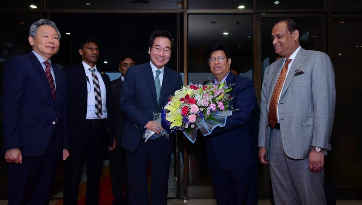 Korean PM in city; talks with Hasina Sunday