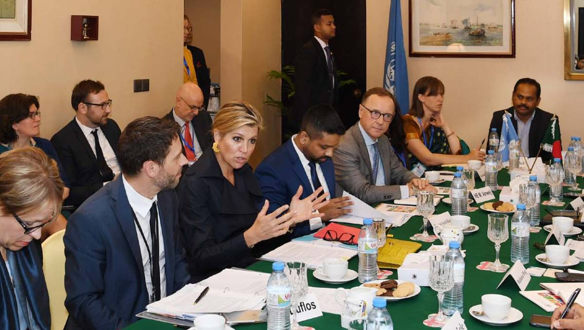 Queen Maxima for creating innovative solutions in private sector