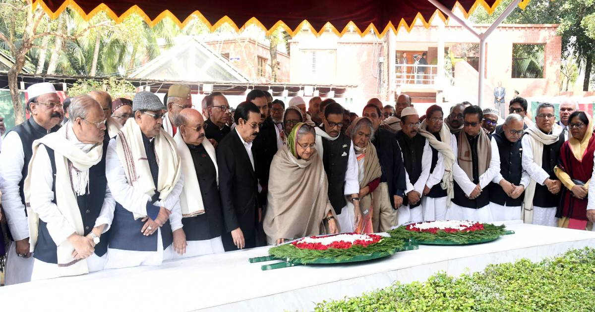 ALCWC ,  Tungipara ,  tributes ,  Awami League Central Working Committee ,  Bangabandhu ,  AL committee ,  Prime Minister Sheikh Hasina
