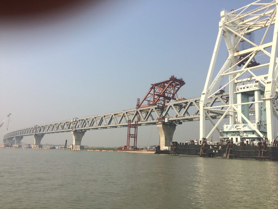Padma Bridge's 11th span installed