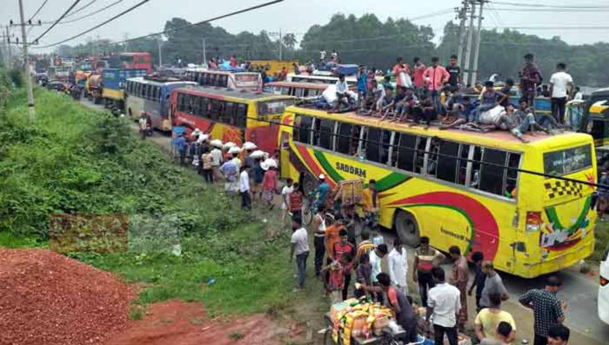 40km tailback on Dhaka-Tangail Highway