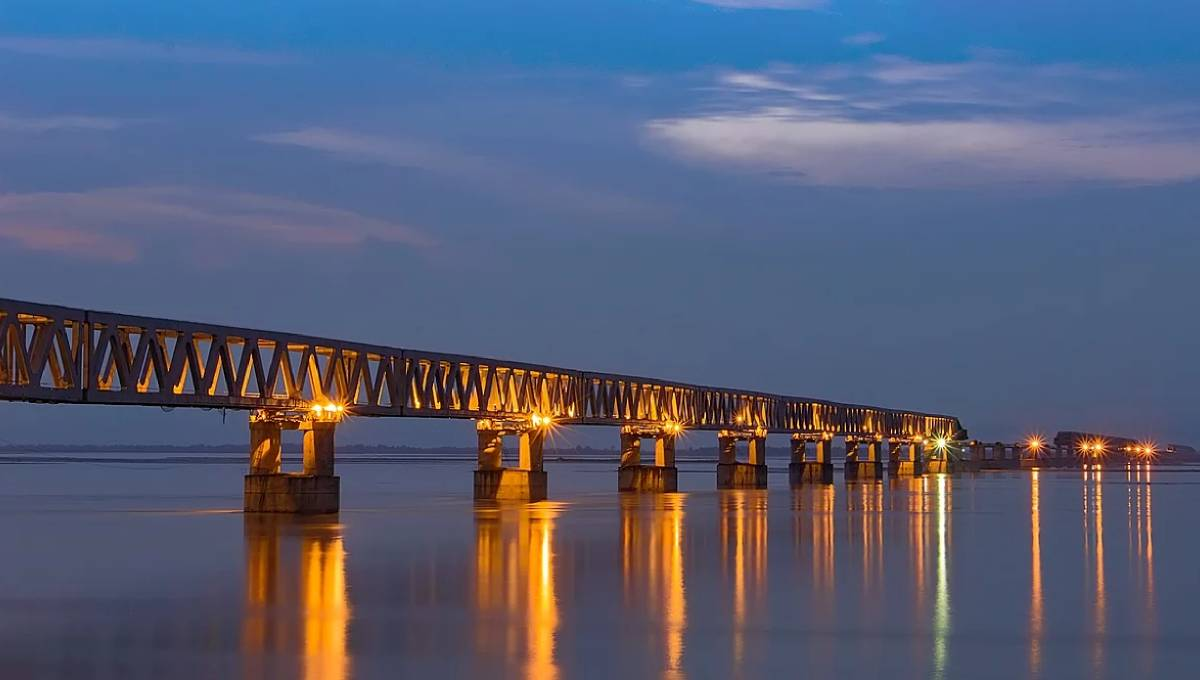 India opens its longest railroad bridge in Assam