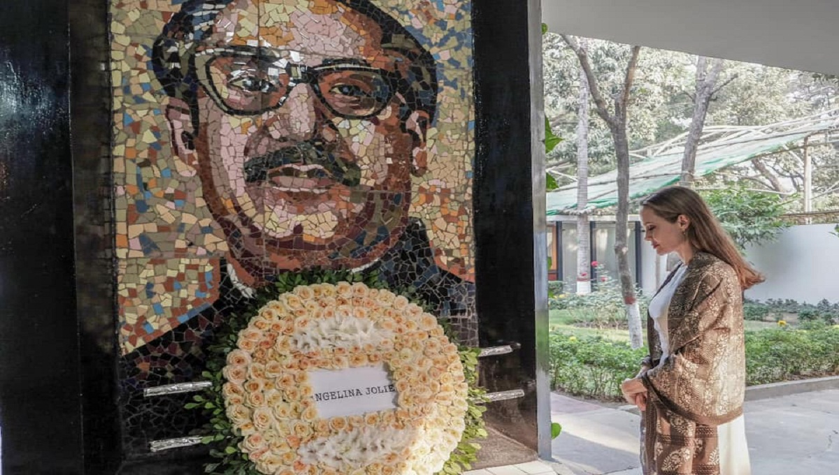 'Deeply moved', Jolie writes after visiting Bangabandhu Museum