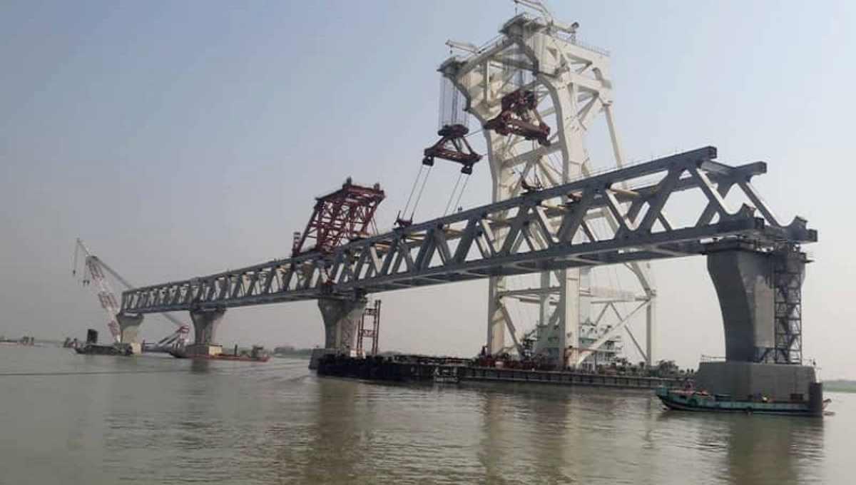 Padma Bridge's 13th span installed