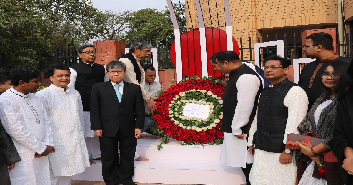 Feb 21 ,  Bangladesh High Commission in New Delhi ,  International Mother Language Day ,  Language Movement martyrs ,  Probhat Ferry ,  Bangabandhu Sheikh Mujibur Rahman
