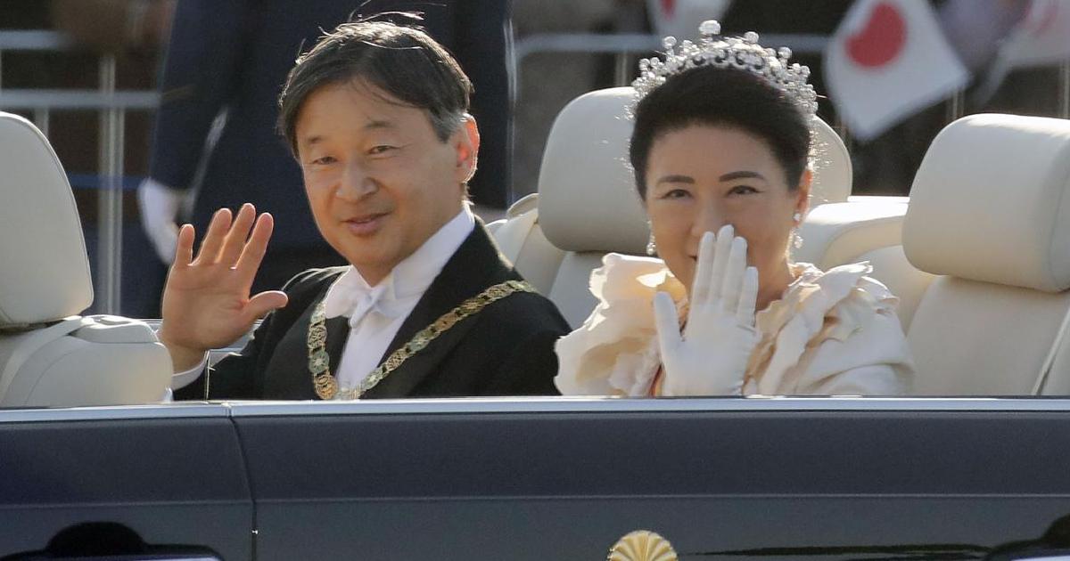 Japan emperor greets