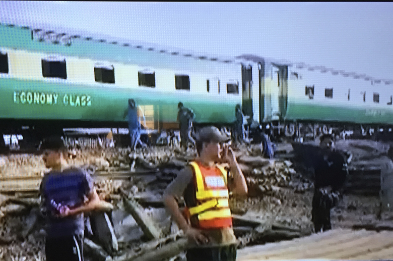 Passenger train hits freight train in Pakistan, killing 10