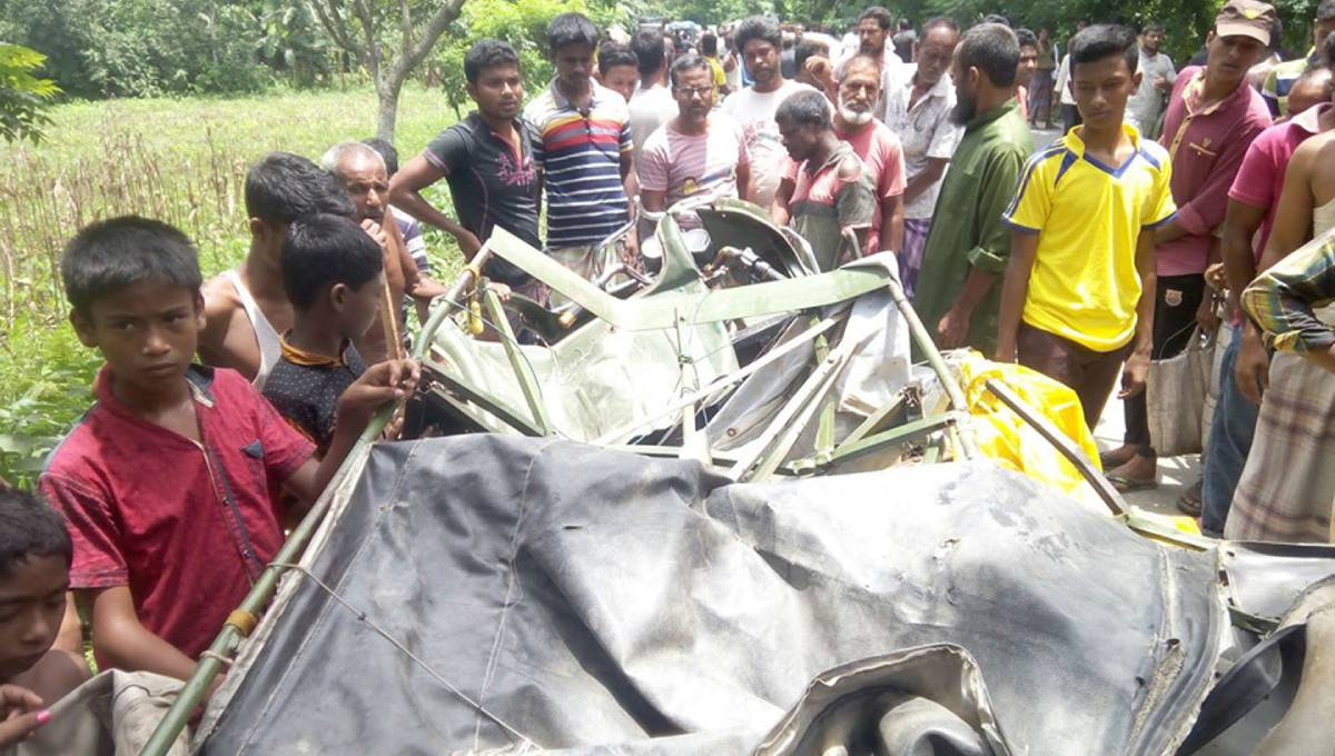 Three of a family killed in Kurigram road crash