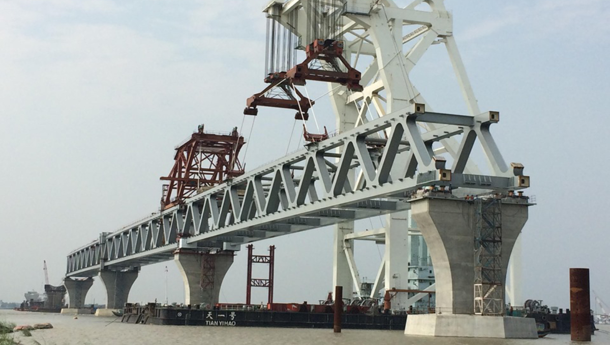 Padma Bridge's 14th span installed