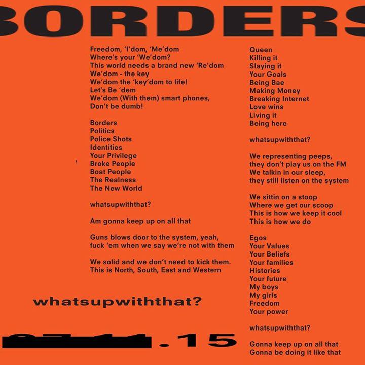 borders lyrics