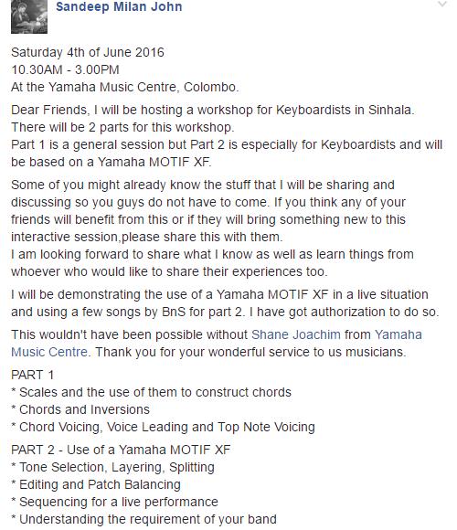 Sandeep Milan John To Do A Special Piano Workshop Decibel