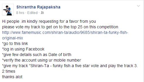 shirantha vote 1