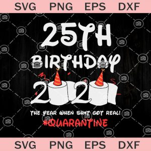 Th birthday the year when shit got real quarantine svg birthday svg