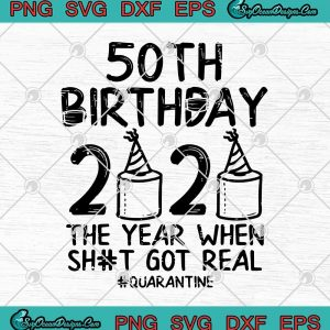 Th birthday the year when shit got real quarantine covid svg png eps dxf svg cricut file silhouette art