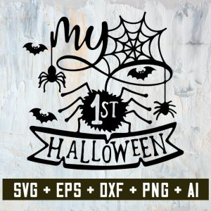 My first Halloween SVG, SVG files,Halloween SVG, Cricut files, Silhouette files, png files, sublimation designs,svg cricut, silhouette svg files, cricut svg, silhouette svg, svg designs, vinyl svg