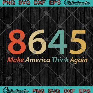 Make america think again vintage svg png eps dxf cricut file silhouette art