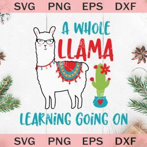 A whole llama learning going on svg teacher svg llama svg