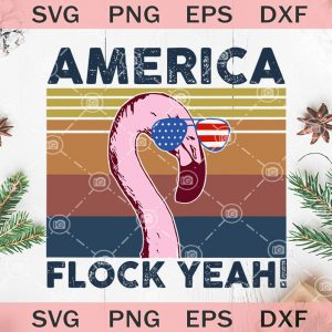 America flock yeah svg flamingo th of july svg flamingo america flag svg