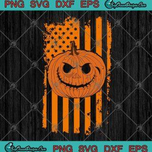 American Flag Pumpkin Funny Halloween SVG PNG EPS DXF - Halloween SVG Cricut File Silhouette Art, svg cricut, silhouette svg files, cricut svg, silhouette svg, svg designs, vinyl svg