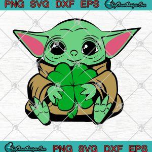 Baby YODA Shamrock Lucky Patrick's Day SVG PNG-Happy St Patrick's Day SVG PNG Vector Ar, svg cricut, silhouette svg files, cricut svg, silhouette svg, svg designs, vinyl svg
