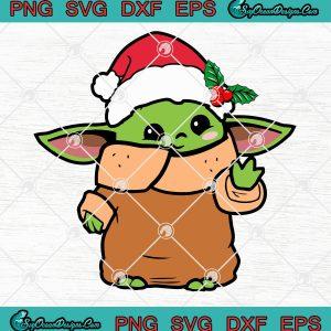 Baby yoda christmas star wars the mandalorian svg png eps dxf the child christmas the mandalorian svg png