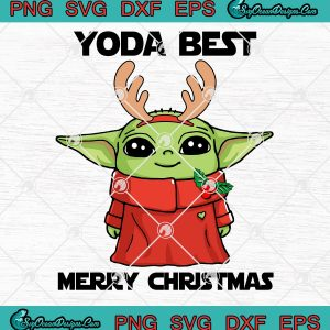 Baby yoda christmas star wars the mandalorian svg png eps dxf yoda best merry christmas svg png eps dxf