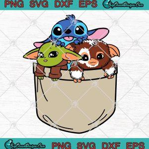 Baby Yoda Stitch Gizmo In A Pocket Art SVG PNG EPS DXF -Baby Yoda Stitch Gizmo Cute SVG PNG, svg cricut, silhouette svg files, cricut svg, silhouette svg, svg designs, vinyl svg