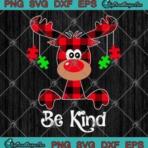 Be kind autism awareness christmas svg png eps dxf autism christmas svg cricut file silhouette svg