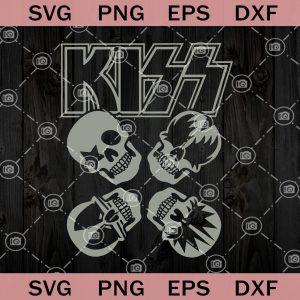 Kiss band skull original painting art print gene simmons tommy thayer paul stanley