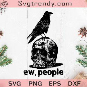 Raven ew people svg raven svg raven on skull svg skull svg raven and skull svg