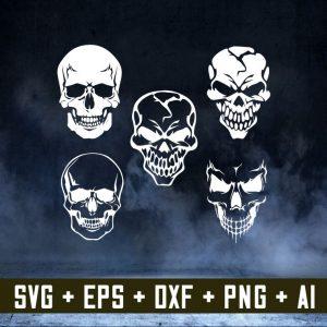 Skull svg, skeleton svg Skull Clipart, silhouette cameo stencil, vinyl, iron on, cricut, Skull dxf, Skull png, Skull Eps, Skull Vector,svg cricut, silhouette svg files, cricut svg, silhouette svg, svg designs, vinyl svg