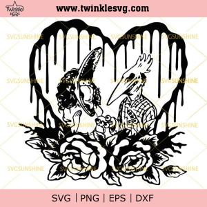 Adam And Barbara SVG, Beetlejuice SVG, Horror Halloween SVG DXF EPS PNG, svg cricut, silhouette svg files, cricut svg, silhouette svg, svg designs, vinyl