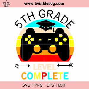 5th grade svg, png, dxf, eps digital file TD141