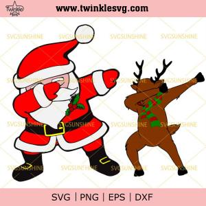Dabbing Santa and Rudolph Svg Bundle, Santa Dabbing Svg, Dabbing Raindeer Svg, Christmas Svg, svg cricut, silhouette svg files, cricut svg, silhouette svg, svg designs, vinyl