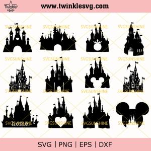 Disney Castle Svg Bundle, Disney Svg, Castle Svg, Disney Bundle Svg, svg cricut, silhouette svg files, cricut svg, silhouette svg, svg designs, vinyl