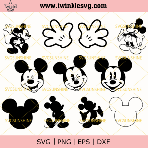 Disney Mickey Mouse Svg, Mickey Mouse Svg, Disney Bundle Svg, Disney Svg, Disney World Svg Bundle, svg cricut, silhouette svg files, cricut svg, silhouette svg, svg designs, vinyl