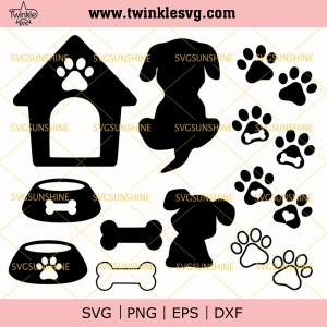 Dog Bone SVG, Dog Paw SVG, Dog House SVG, Bone SVG, Dog SVG, svg cricut, silhouette svg files, cricut svg, silhouette svg, svg designs, vinyl