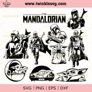 Mandalorian And Baby Yoda SVG Bundle, Star Wars SVG, Mandalorian SVG, Baby Yoda SVG, svg cricut, silhouette svg files, cricut svg, silhouette svg, svg designs, vinyl
