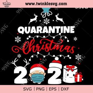 Quarantine Christmas 2020 svg, Santa Claus svg, Merry Christmas svg, png, dxf, eps