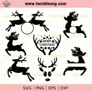 Reindeer SVG Bundle, Deer & Antlers SVG Bundle, Merry Christmas SVG, svg cricut, silhouette svg files, cricut svg, silhouette svg, svg designs, vinyl