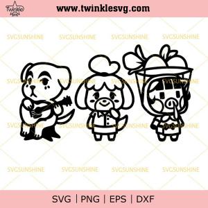 Slider, Isabelle and Daisy Mae Bundle SVG, Animal Crossing Cute SVG Digital Download, svg cricut, silhouette svg files, cricut svg, silhouette svg, svg designs, vinyl