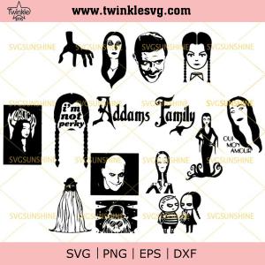 The Addams Family SVG Bundle, Addams Family SVG PNG DXF EPS, svg cricut, silhouette svg files, cricut svg, silhouette svg, svg designs, vinyl