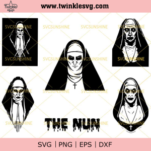 The Nun SVG Bundle, The Nun SVG PNG DXF EPS, Halloween SVG Bundle, svg cricut, silhouette svg files, cricut svg, silhouette svg, svg designs, vinyl