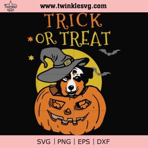 Trick or treat svg, halloween svg, png, dxf, eps digital file HLW1707203